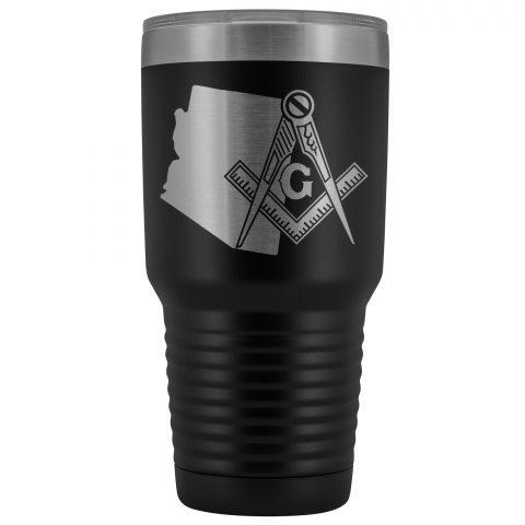 Arizona Masonic 30oz Tumbler Arizona Masonic Black Tumbler