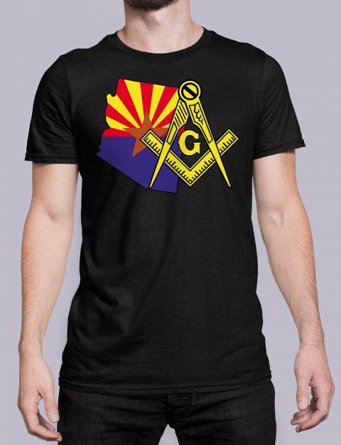 Arizona Masonic Tee Arizona black shirt