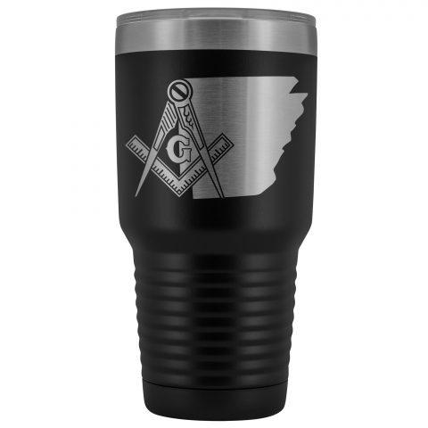Arkansas Masonic 30oz Tumbler Arkansas Masonic Black Tumbler