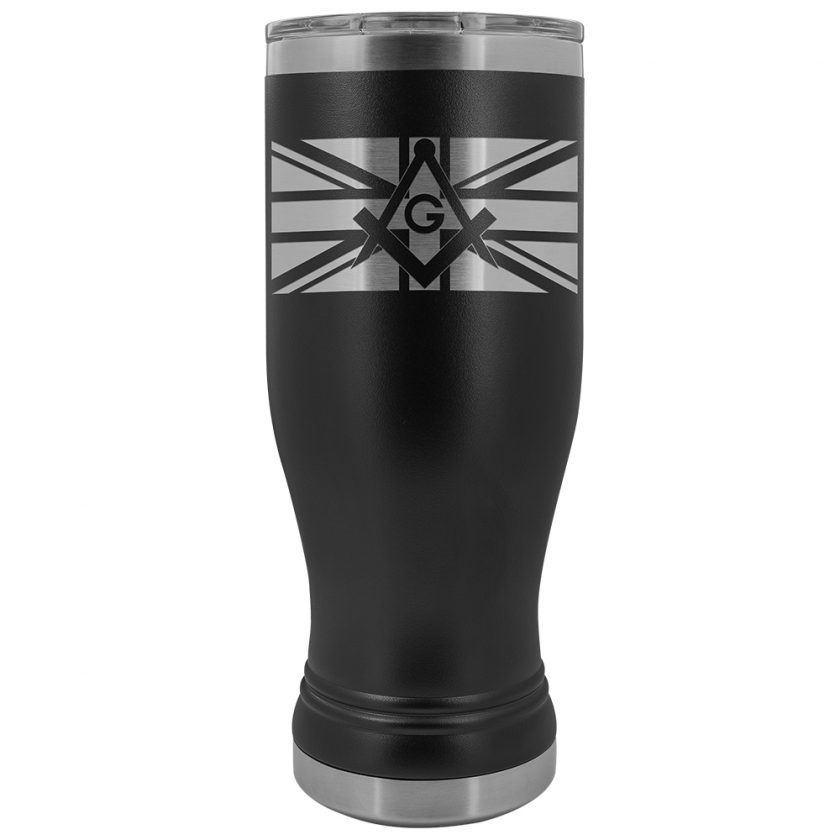 British Masonic BOHO 20oz Tumbler Black