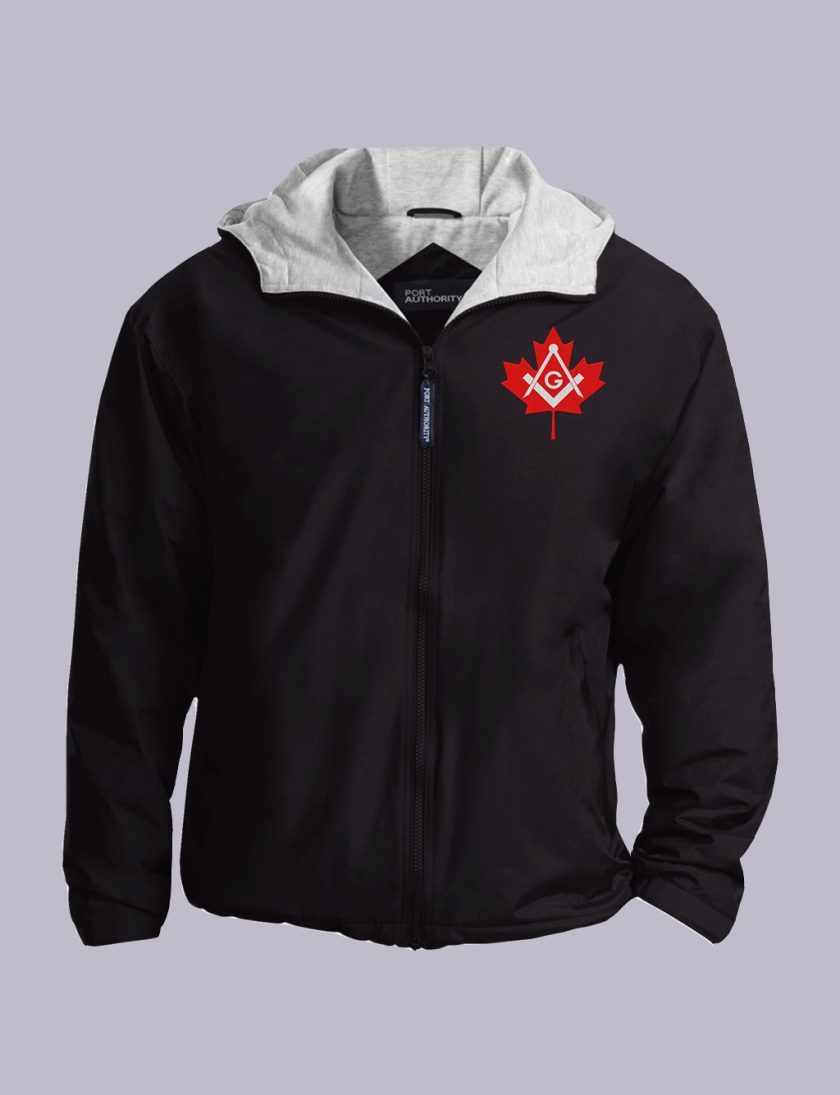 Canadian Freemasons Embroidered Jacket Black