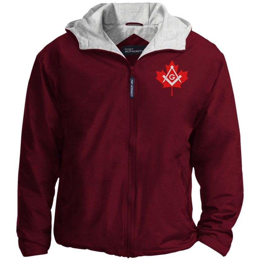 Canadian Freemasons Embroidered Jacket Maroon