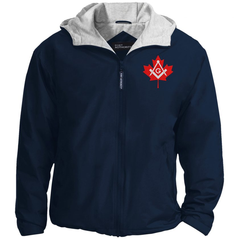 Canadian Freemasons Embroidered Jacket Navy