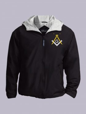 Filipino Freemasons Embroidered Jacket Black