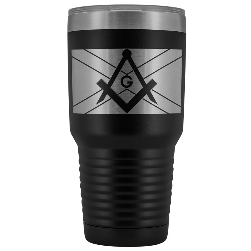 Scottish Masonic 30oz Tumbler Black