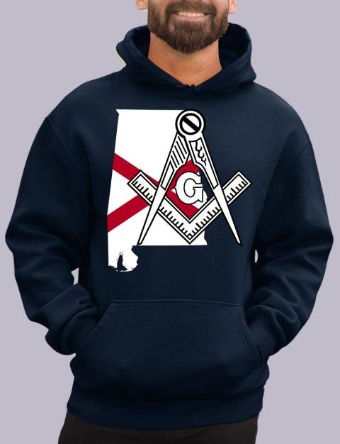 Alabama Masonic Hoodie alabama navy hoodie