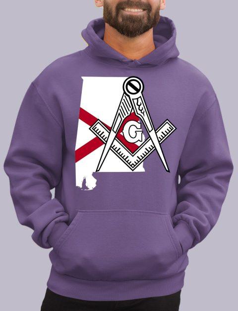Alabama Masonic Hoodie alabama purple hoodie