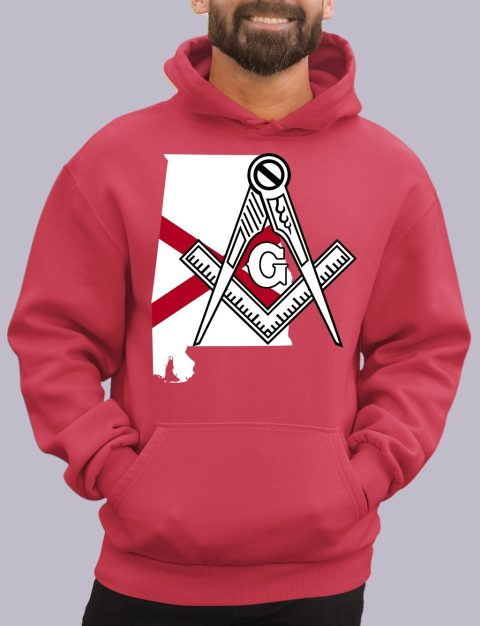 Alabama Masonic Hoodie alabama red hoodie