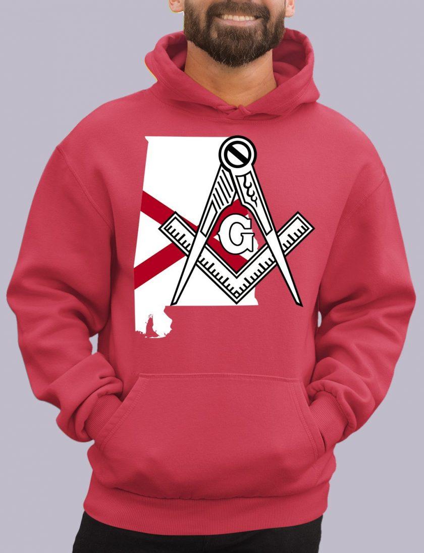 alabama red hoodie
