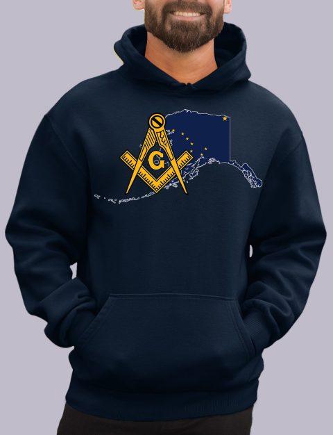 Alaska Masonic Hoodie alaska navy hoodie