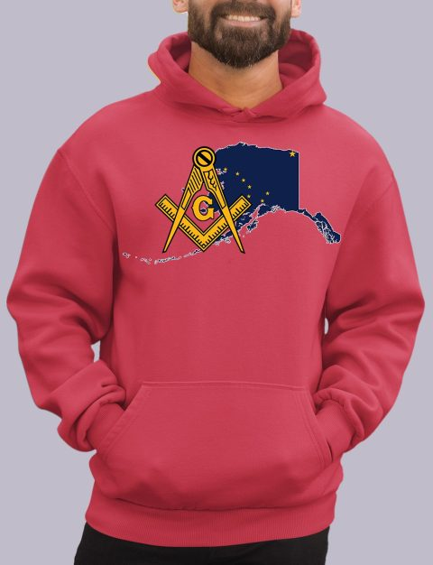 Alaska Masonic Hoodie alaska red hoodie