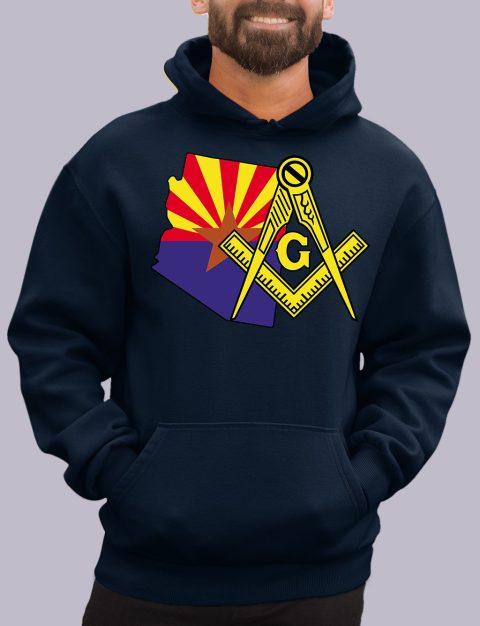 Arizona Masonic Hoodie arizona navy hoodie