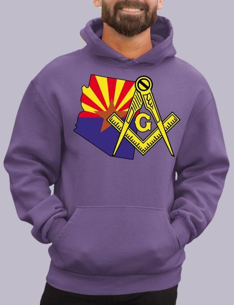 Arizona Masonic Hoodie arizona purple hoodie