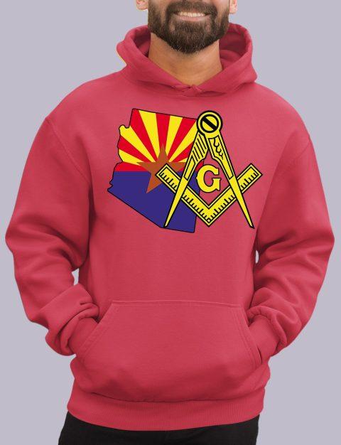 Arizona Masonic Hoodie arizona red hoodie