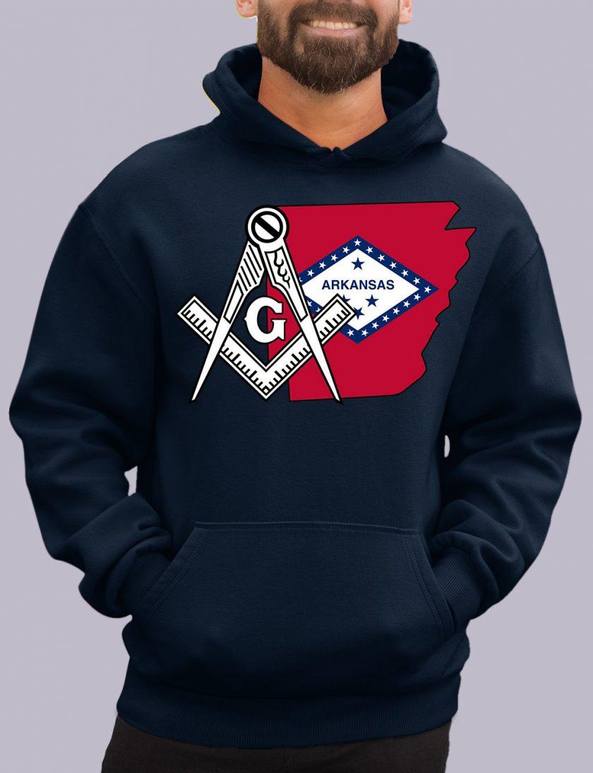 arkansas navy hoodie