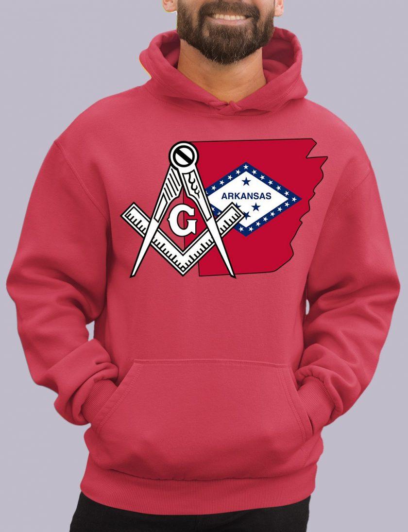arkansas red hoodie