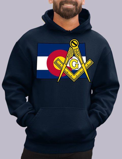 Colorado Masonic Hoodie colorado navy hoodie