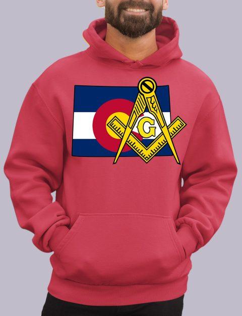 Colorado Masonic Hoodie colorado red hoodie