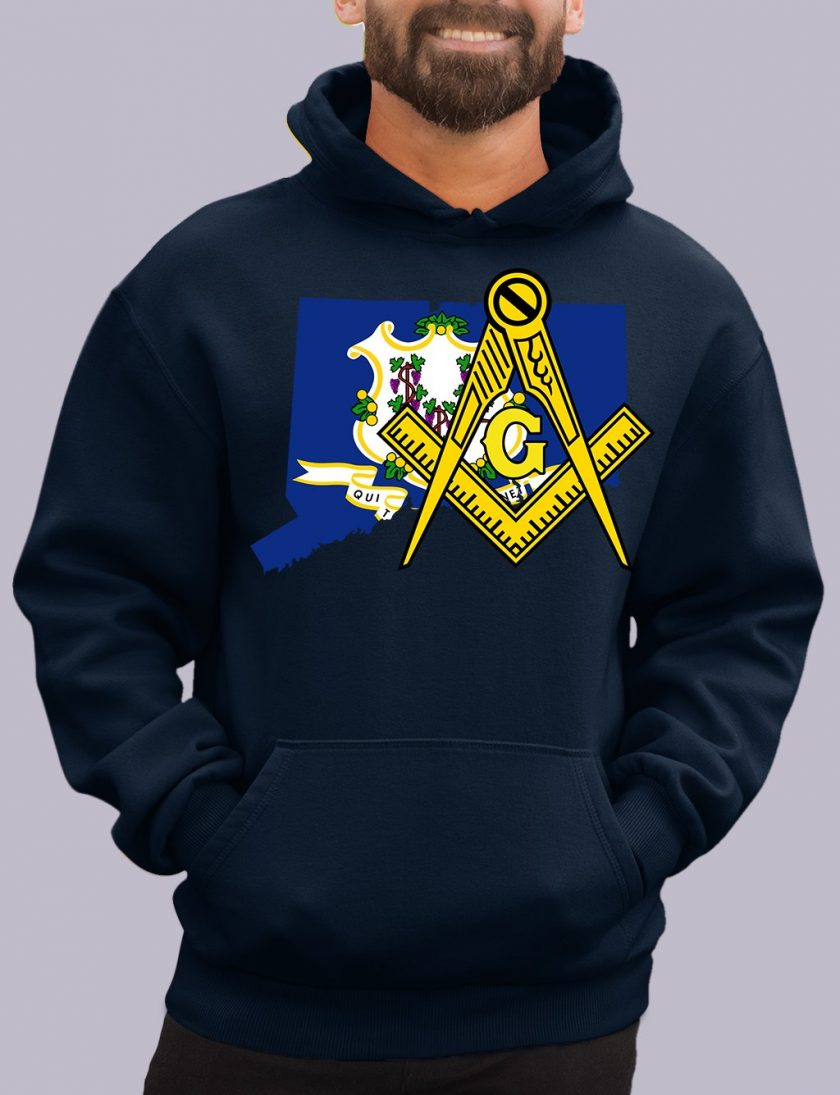 connecticut navy hoodie