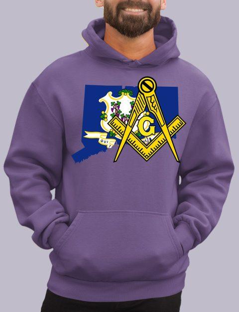 Connecticut Masonic Hoodie connecticut purple hoodie