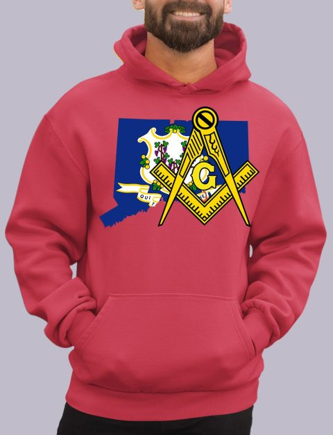 Connecticut Masonic Hoodie connecticut red hoodie