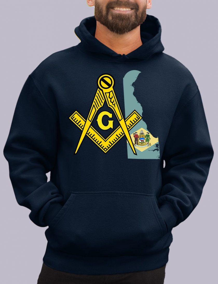 delaware navy hoodie