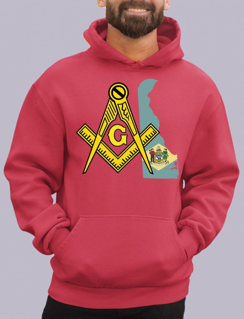 delaware red hoodie