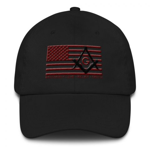 Red Brotherly Love - Relief - Truth Masonic Hat mockup 2c3adb04