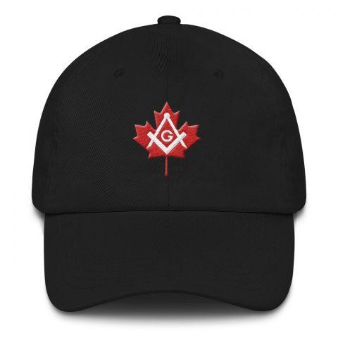 Canada Embroidered Masonic Hat mockup 3a8f10b4