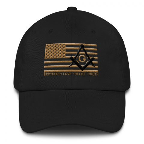 Old Gold Brotherly Love Masonic Hat mockup 4a5d8aba