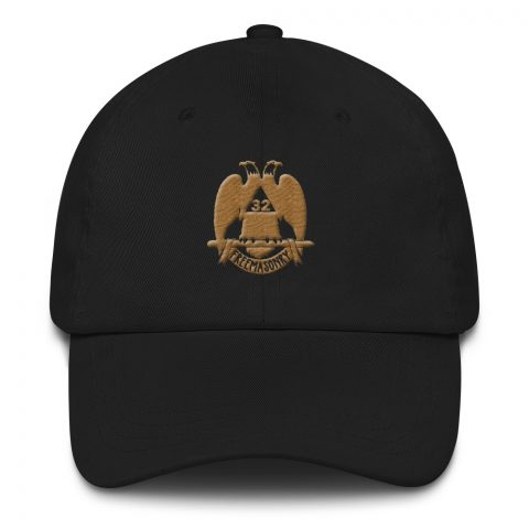 32 Degree Masonic Hat Embroidery Old Gold mockup eb529167