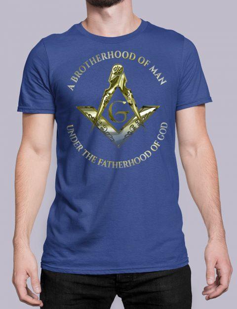 A Brotherhood Of Man Masonic Freemason T-Shirt A Brotherhood Of Man 2 front royal shirt