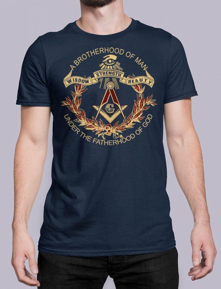 A Brotherhood Of Man front navy shirt