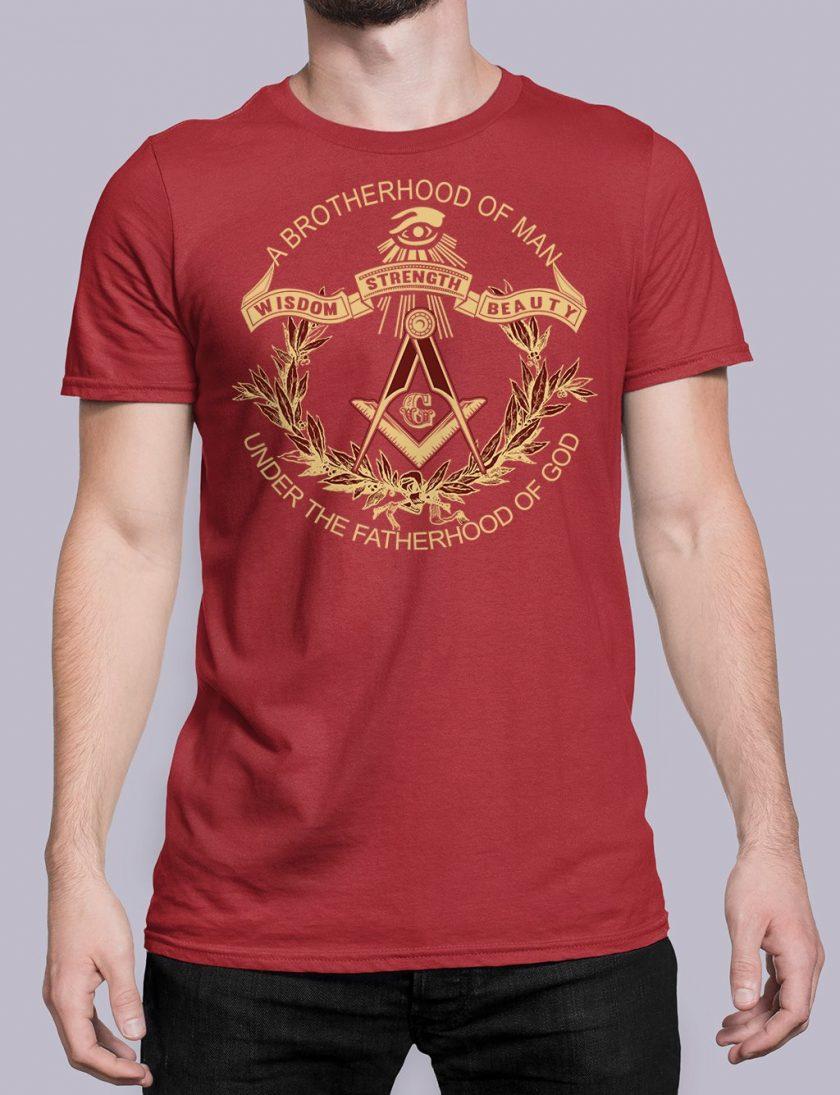 A Brotherhood Of Man front red shirt