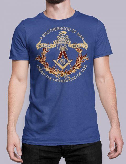 A Brotherhood Of Man Masonic T-Shirt A Brotherhood Of Man front royal shirt