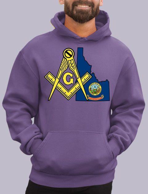 Idaho Masonic Hoodie Idaho purple hoodie