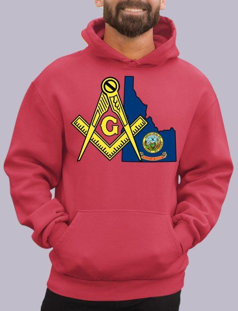 Idaho Masonic Hoodie Idaho red hoodie