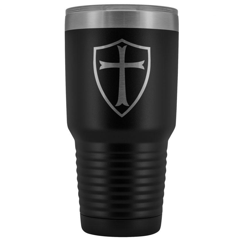 Knight templar 2 30oz black tumbler