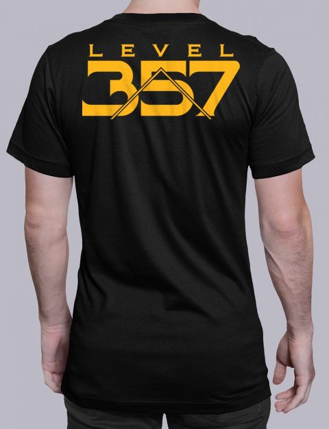 Level 357 Masonic T-Shirt Level 357 back black shirt back 5
