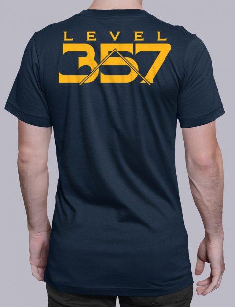Level 357 Masonic T-Shirt Level 357 back navy shirt back 5