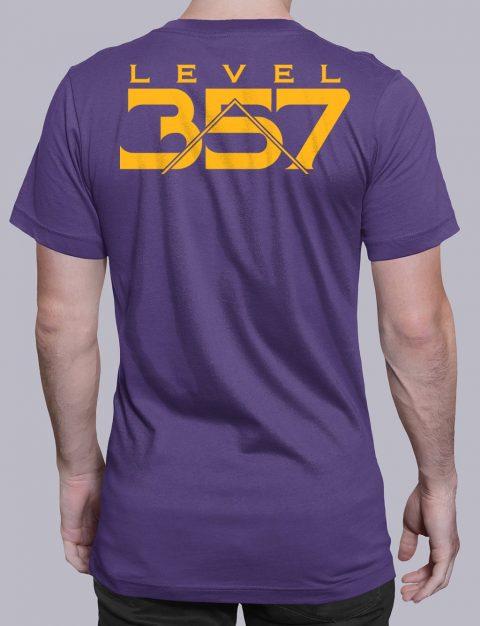 Level 357 Masonic T-Shirt Level 357 back purple shirt back 5