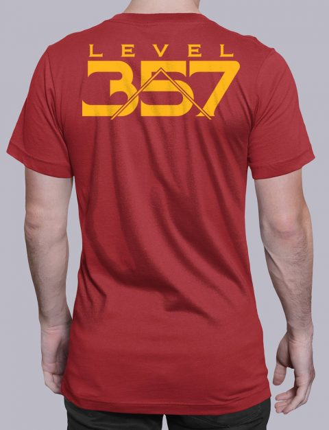 Level 357 Masonic T-Shirt Level 357 back red shirt back 5