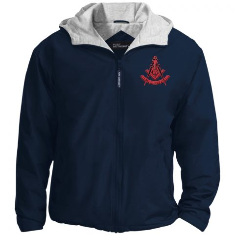Past Master Red Embroidery Masonic Jacket New red past master navy jacket