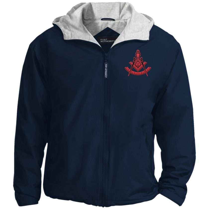 New red past master navy jacket