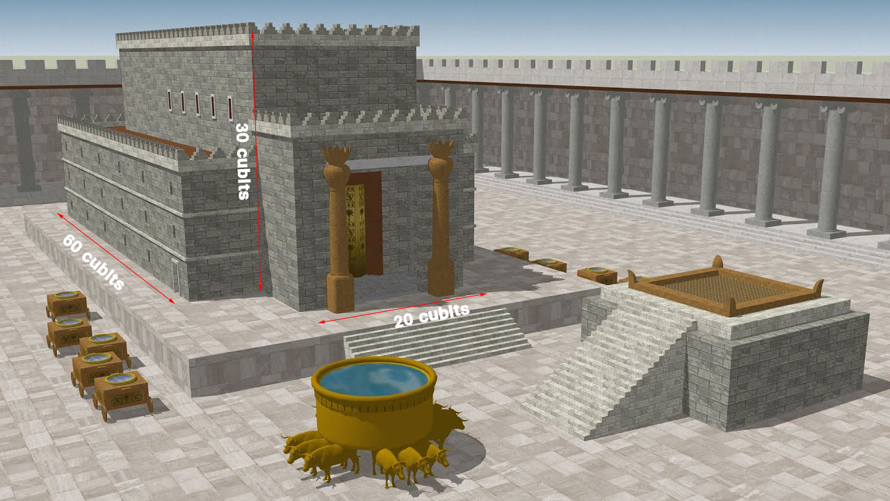 12 Facts about King Solomon's Temple The temple of king solomon 3d