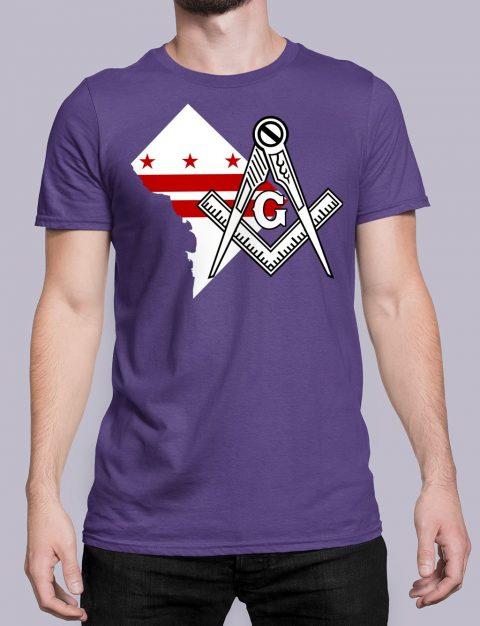Washington DC Masonic T-Shirt Washington DC purple shirt