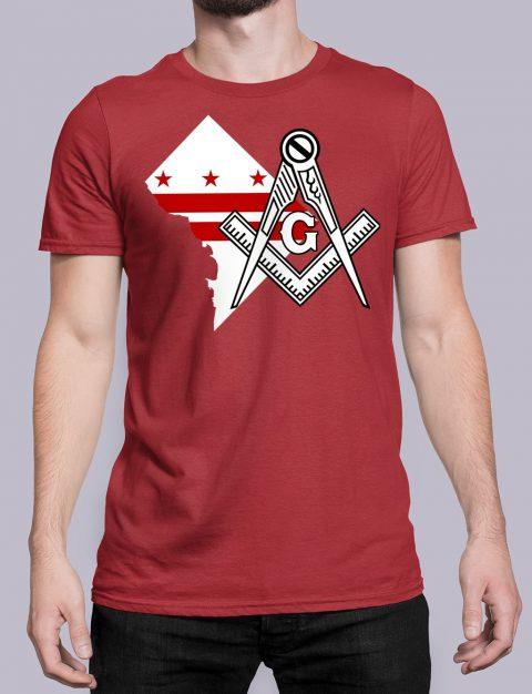 Washington DC Masonic T-Shirt Washington DC red shirt