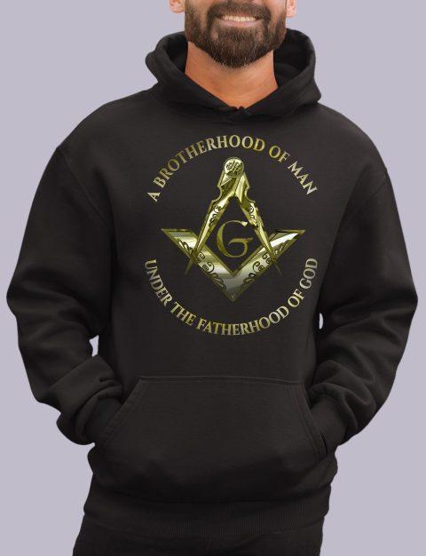 A Brotherhood of Man Masonic Hoodie 1 a bro of man black hoodie
