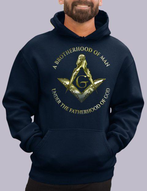 A Brotherhood of Man Masonic Hoodie 1 a bro of man navy hoodie