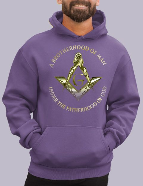 A Brotherhood of Man Masonic Hoodie 1 a bro of man purple hoodie